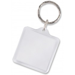 Square Lens Key Ring