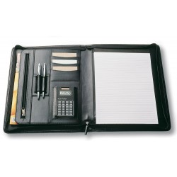 A4 Zippered Compendium - 9012