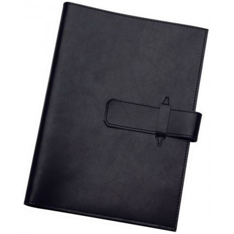 A5 Leather Pad Cover in Black - 9103