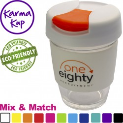 Glass Karma Kup with Hard Plastic Lid