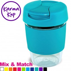 Clear As Plastic Karma Kup With Hard Plastic Lid