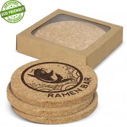 Oakridge Cork Coaster Round Set of 4