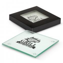 Venice Glass Coaster Set of 2 - Square