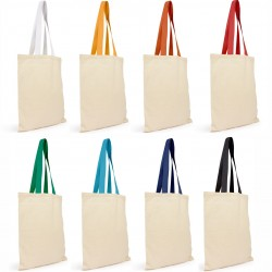 Cotton Tote Bag With Coloured Webbing Handle