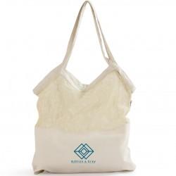 Mixed Mesh/ Canvas Tote Bag