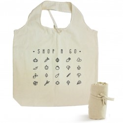 Natural Cotton Roll Up Tote Bag