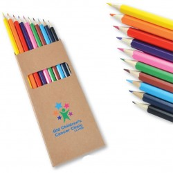 Coloured Full Length Colouring Pencils PK10